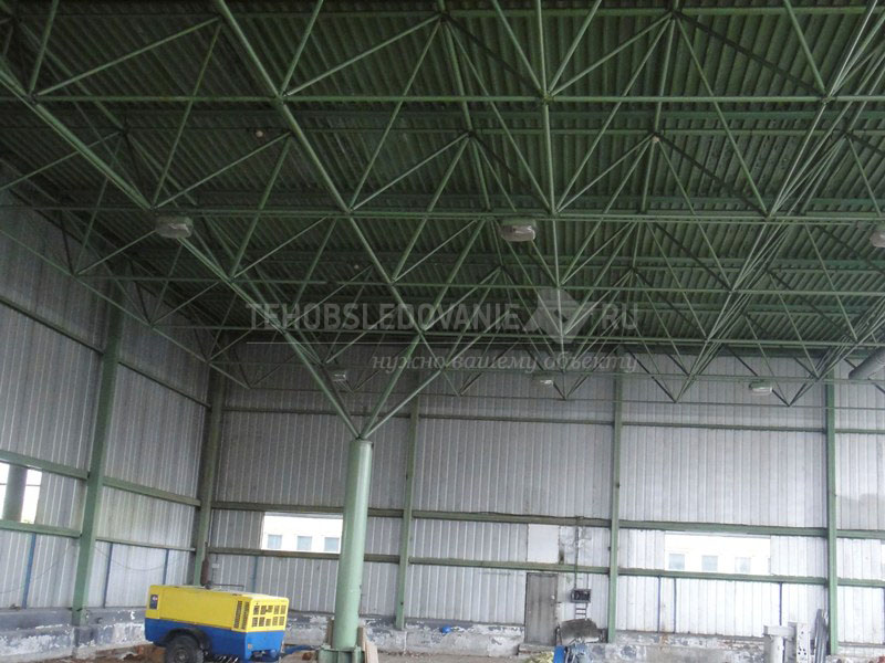Несущий остов покрытия - пространственная металлическая решетчатая плита системы «Кисловодск»